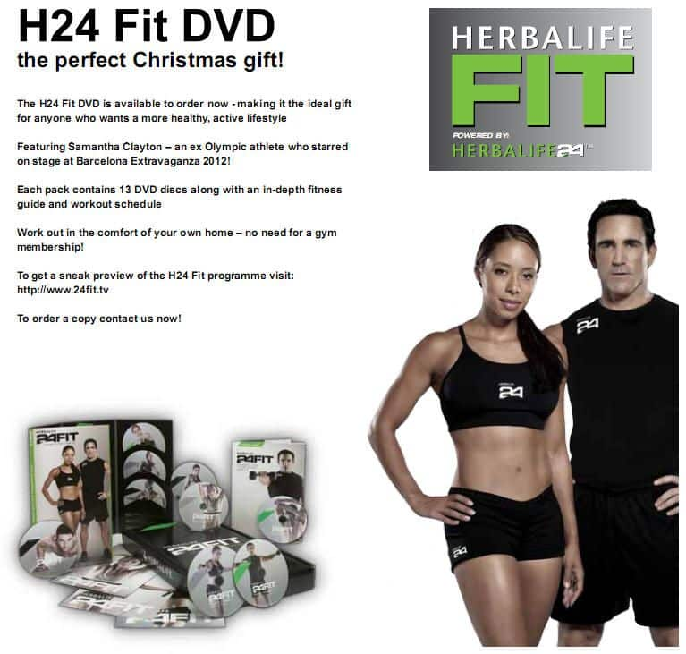 Independent Herbalife Member H24 Fit Workout Dvds The